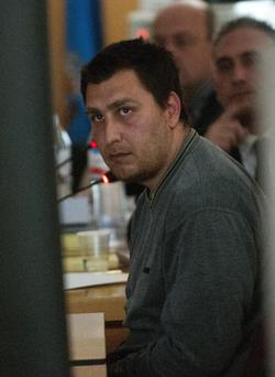 Bulgarian Deyan Deyanov attends his trial at a court in Santa Cruz de Tenerife