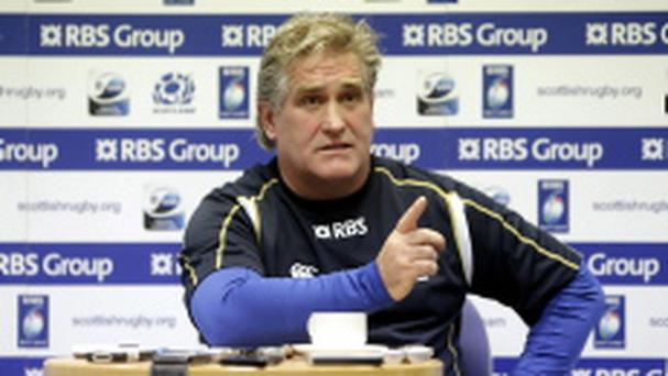 Scotland's interim head coach Scott Johnson