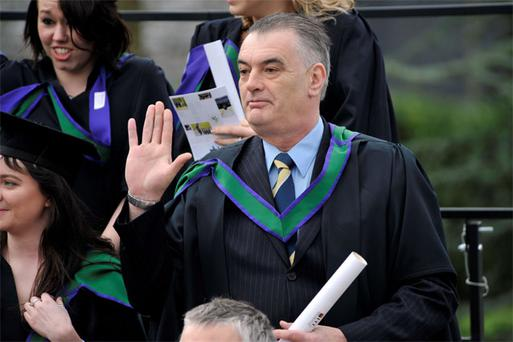 Ian Bailey at his UCC graduation yesterday