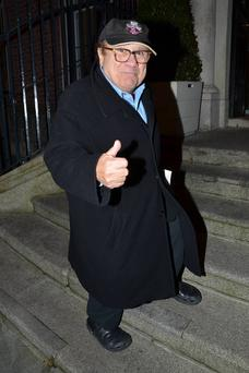 Danny DeVito seen arriving at The Merrion Hotel, Dublin, Ireland.