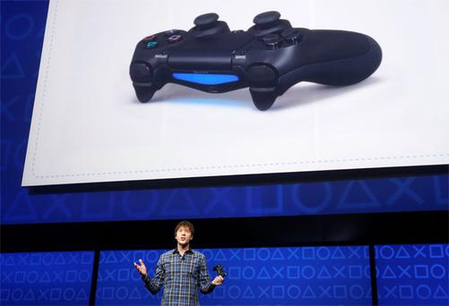 Mark Cerny speaks during the unveiling of the PlayStation 4