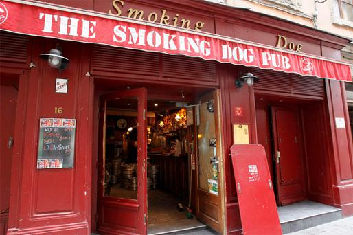 the Smoking Dog Pub in Lyon where Spurs fans were attacked