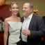 Jennifer Lawrence and producer Harvey Weinstein attend the Vanity Fair celebration of Silver Linings Playbook
