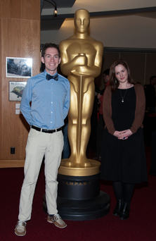 With Timothy Reckart, who wrote and directed the short Head Over Heels