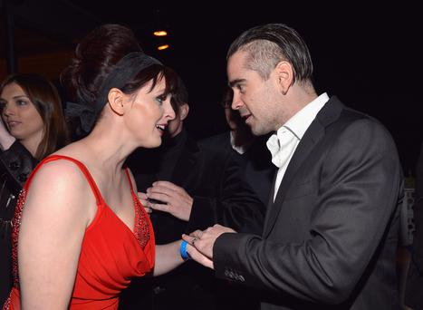 "Julie Feeney and actor Colin Farrell at the 8th Annual ""Oscar Wilde: Honoring The Irish In Film"" event"