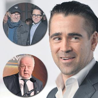 Clockwise from Left: Steven Spielberg and JJ Abrams, Colin Farrell and Jim Sheridan