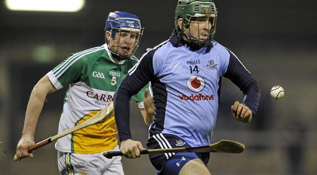 Conor McCormack, Dublin, in action against Dermot Mooney