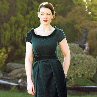 MILLION-DOLLAR PUBLICITY: Laura-Jayne Halton who has designed a dress for Irish producer Fodhla Cronin O'Reilly to wear at the Oscars in Los Angeles.