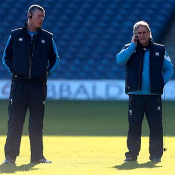 Scotland's interim defence coach, Dean Ryan and interim head coach, Scott Johnston (right)
