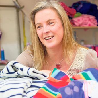 MOTHER BA-GOOSE: Simone O'Shaughnessy creates colourful fleece clothing for children