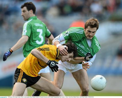 Jamie Clarke, Ulster, in action against Brian Malone, Leinster