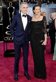 Oscar winner Daniel Day Lewis and wife writer Rebecca Miller looked elegant as ever