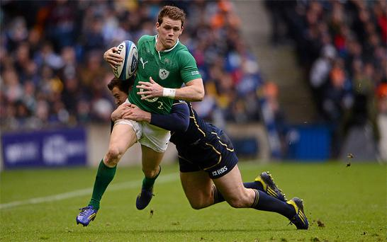 <p><strong>Craig Gilroy 6/10</strong></p> <p>The Ulster winger saw precious little of the ball but he took his score brilliantly, twisting and turning to wriggle over for the game's only try. He knocked on once or twice but, overall, his outing was positive.</p>