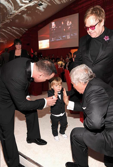 The couple's two-year-old son Zachary who was the star attraction