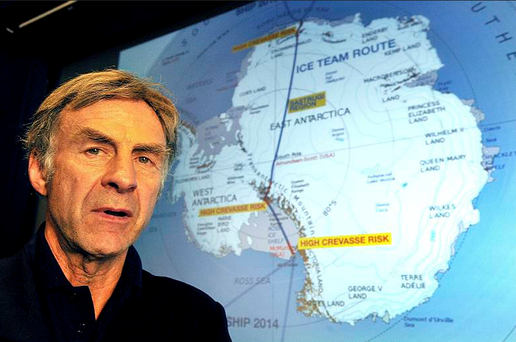 68-year-old Fiennes was injured after a fall while skiing during training at a base camp in Antarctica