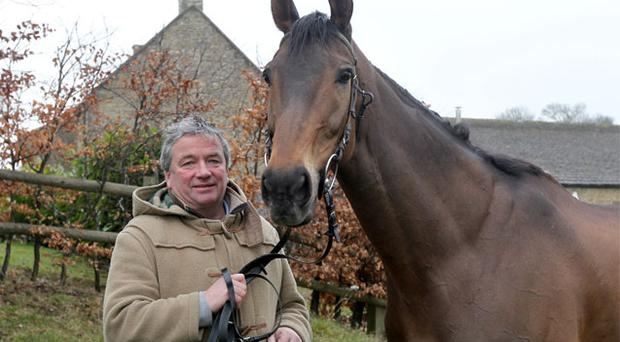 Nigel Twiston-Davies with Imperial Commander