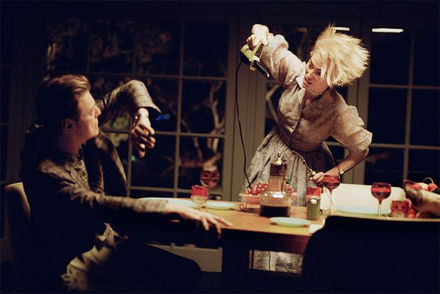 A scene from the video starring David Bowie and Tilda Swinton