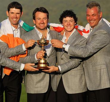 Padraig Harrington, Graeme McDowell , Rory McIlroy and Darren Clarke will all take part in this year's Irish Open