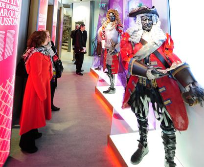 People view figures at the new Athlone Castle visitors' centre