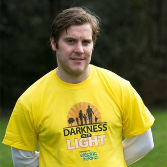 'Love/Hate' star Peter Coonan at the launch of Pieta House's 'Darkness into Light' fundraising walk and (inset) the charity's founder Joan Freeman