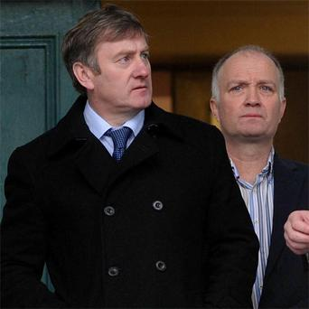 Patrick (left) and Denis Enright outside court in Kerry