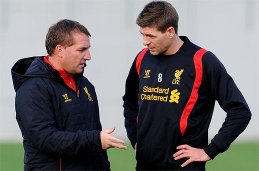 Steven Gerrard is a product of the Liverpool academy which is not producing enough players for Brendan Rodgers' liking