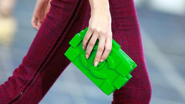 Chanel's Spring-Summer 2013 collection in Paris debuted the neon green clutch