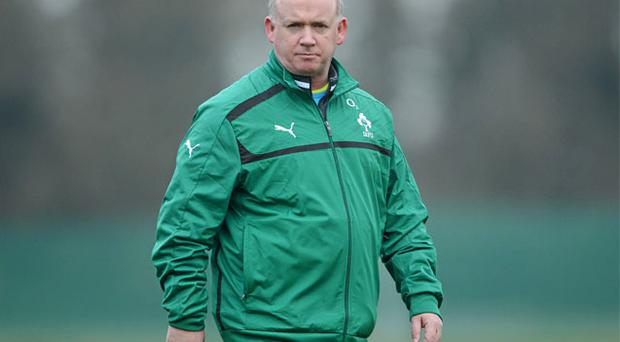 Declan Kidney during squad training ahead of Ireland's RBS Six Nations game against France