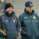 Kerry selector Mikey Sheehy with manager Eamonn Fitmaurice