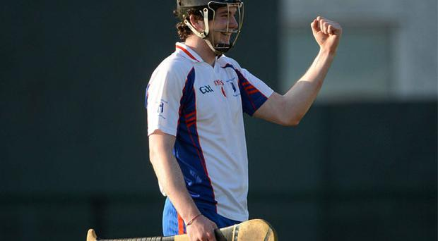 Declan Hannon, Mary Immaculate College Limerick, celebrates after his side defeated Dublin Institute of Techonology