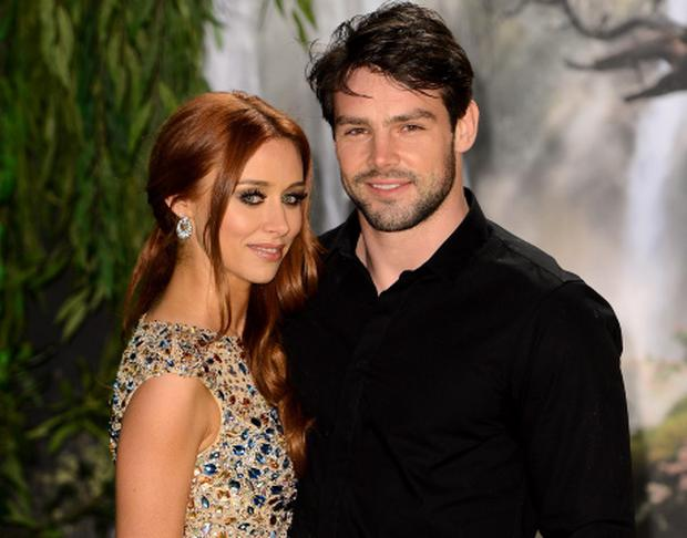 LONDON, ENGLAND - FEBRUARY 28: Singer Una Healy of The Saturdays and her husband rugby player Ben Foden attend the UK film premiere of Oz: The Great and Powerful at the Empire Leicester Square on February 28, 2013 in London, England. (Photo by Ian Gavan/Getty Images)