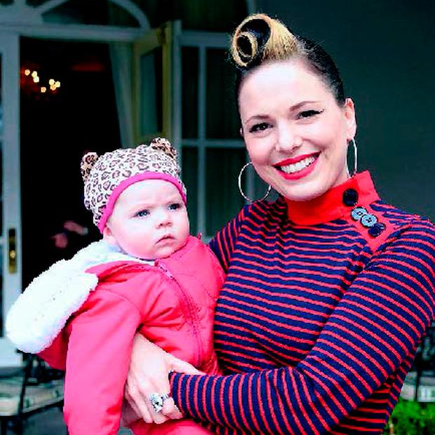 Imelda May with Violet.
