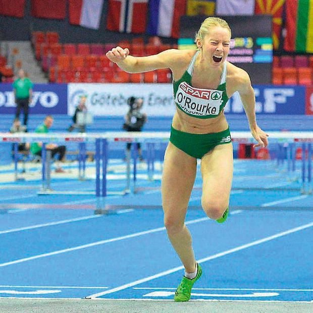 Derval O'Rourke finishes just one hundreth of a second outside of the medals at the European Indoor championships but could now claim bronze
