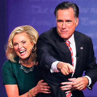 Mitt Romney and his wife Ann.