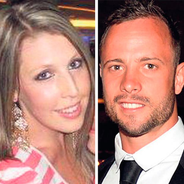 Cassidy Taylor-Memmory, left, and Oscar Pistorius