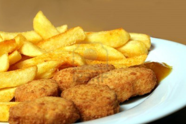 The sick and elderly are being offered highly processed meals like chicken nuggets and chips