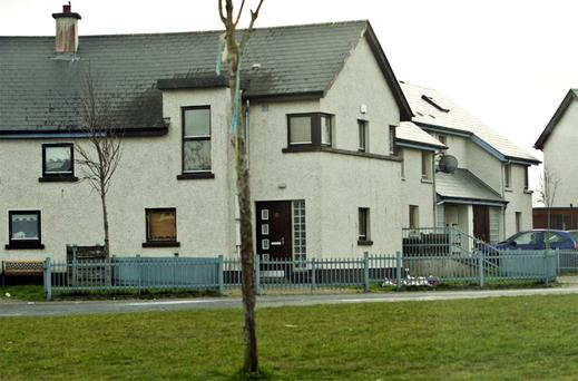 Ard Mor Walk estate in Tallaght, where toddler Lilly Rose O'Toole died in a tragic accident