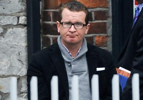Gary O'Flynn, the son of former Cork TD Noel O'Flynn, pictured at Cork District Court
