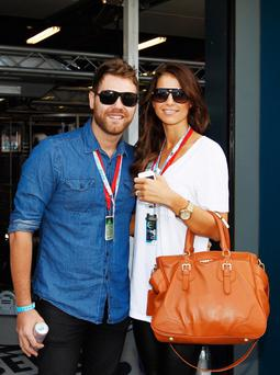 Brian McFadden and Vogue Williams have left Australia for London