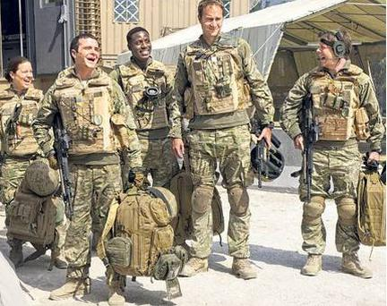 Suited and booted: the cast of 'Bluestone 42