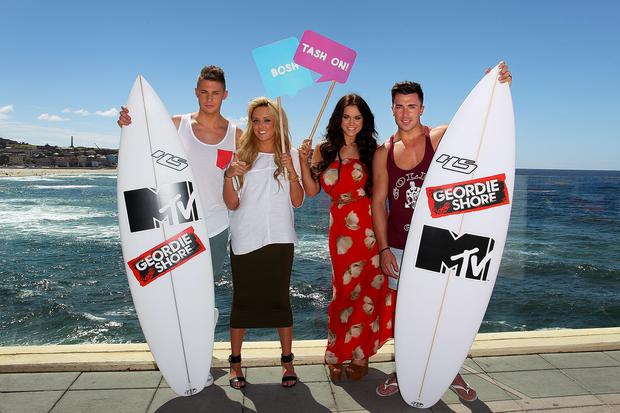 Scott Timlin, Charlotte Letitia Crosby, Vicky Pattison and James Tindale.
