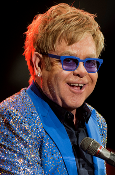 Elton John also requested a pint of fresk skimmed milk in his room