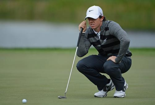 Rory McIlroy in action at the Honda Classic