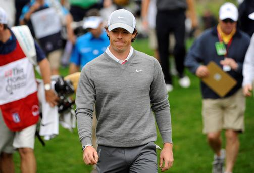 Rory McIlroy in action at the Honda Classic PGA golf tournament