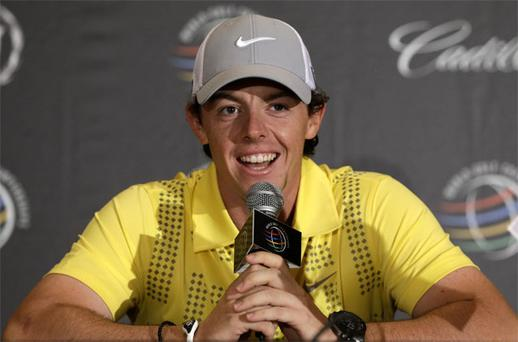 Rory McIlroy told the media in Florida that his swing, rather than his clubs, is causing problems for him