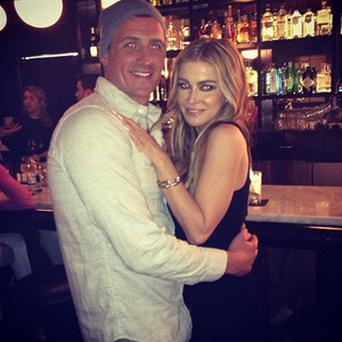 Ryan Lochte and Carmen Electra