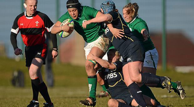 Ireland's Sophie Spence in action against Scotland last month