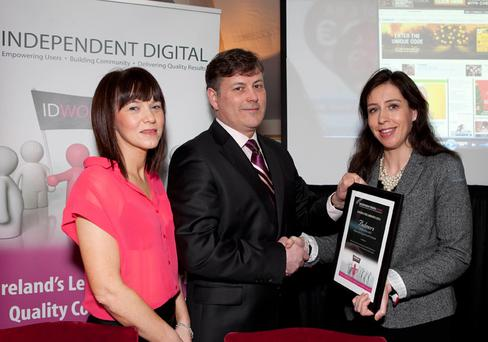 Eileen Ruddy, Group Online Sales Director, Independent Digital, Ian Byrne, MD, Independent Digital and Nicola O'Connell from Bulmers