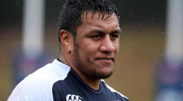 Mako Vunipola, the England prop, looks on during the England training session today