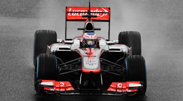 Jenson Button of McLaren drives during testing earlier this month